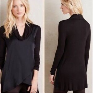 Deletta Draped Cowlneck Tunic Back Top M